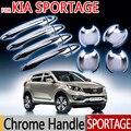 Venda quente para KIA Sportage Chrome Exterior porta de cobre 2010 2011 2012 2013 2014 2015 estilo do carro