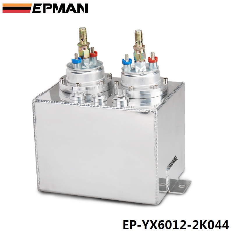 EPMAN Dual High-pressure Fuel Pump Conventionally Plumbed In Series With Surge Tanks EP-YX6012-2K044 fuelab 41402 4 prodigy high pressure efi purple in line fuel pump