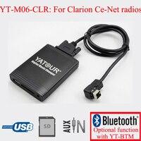 Yatour digital car audio odtwarzacz usb sd aux in interfejsów dla radia suzuki clarion ce-netto