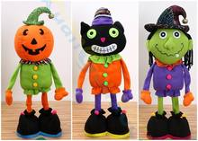 Halloween easter decorations festival party home bar props supplies ornament  pumpkin witch Black cat retractable doll kids toys