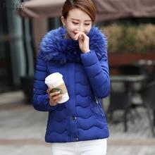 Women Winter Coat Thicken Slim Elegant Ladies Luxury Fur Collar Parka Down Jacket Plus Size D135