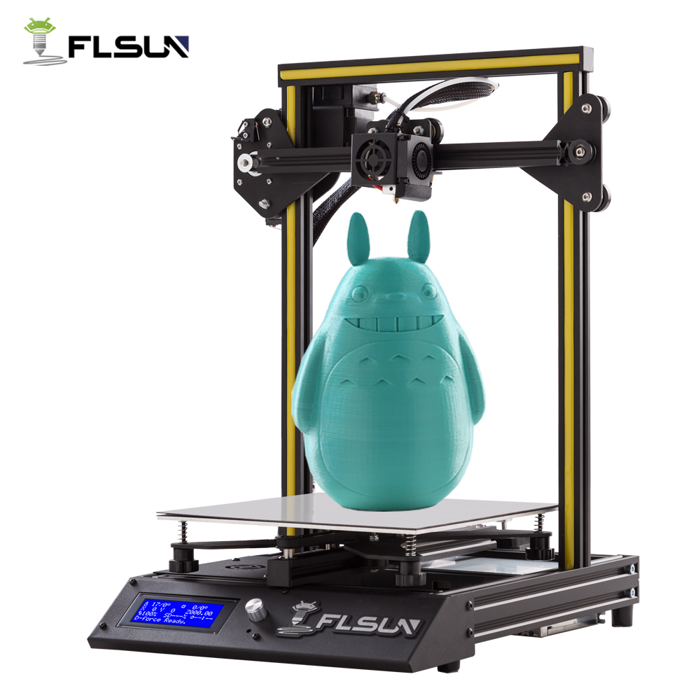 New User 3D Printer Flsun-F4 Large Printing Size 240*240*260mm Pre-assembly Metal Parts HeatBed One Roll Filament Open Source 2018 flsun 3d printer large size 240 240 260mm pre assembly prusa i3 3d printer metal parts heatbed support free pla filament