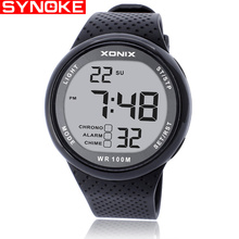 SYNOKE 2019 New Brand Watch Men Military Sports Watches Fashion PU Waterproof LED Digital For Clock Digital-Watch
