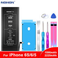 Original NOHON For iPhone 6S 6 5 6GS iPhone6 iPhone5 Replacement Battery High Capacity Lithium Polymer Mobile Phone Batteries