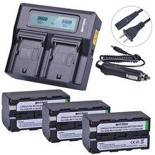 Batmax 3 шт. NP-F750 NP-F770 NP F750 F770 Li-Ion Батарея + ЖК-дисплей быстрое двойное Зарядное устройство для Sony NP F970 F960 ccd-tr917 ccd-tr940