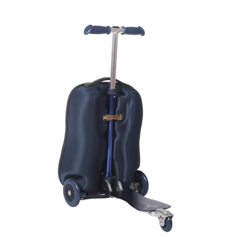 TRAVEL TALE วัยรุ่นสกู๊ตเตอร์กระเป๋าเดินทาง eva สกู๊ตเตอร์กระเป๋ารถเข็นกระเป๋าเป้สะพายหลังล้อ-ใน กระเป๋าเดินทางแบบลาก จาก สัมภาระและกระเป๋า บน   1