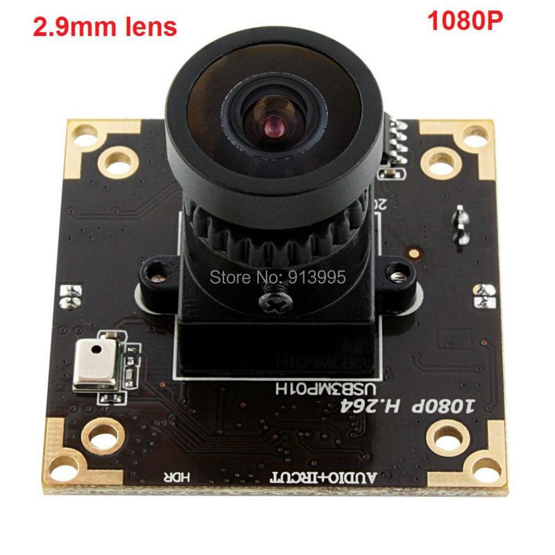 3mp /2mp 1080P H.264/MJPEG/YUY2 USB2.0 Aptina AR0331 Color CMOS wide angle 2.9mm lens USB 2.0 high speed 1080P WDR Camera board
