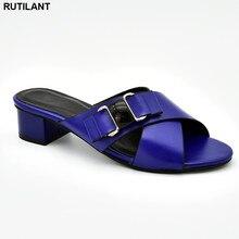 Nouveauté femmes italiennes pompes de mariage décorées de strass sans lacet chaussures pour femmes chaussures nigérianes sandales de luxe femmes