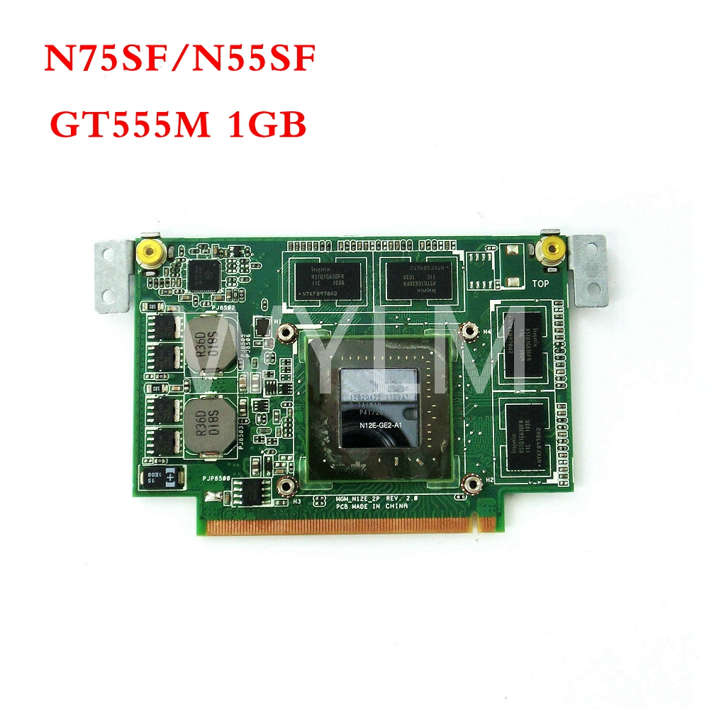 N55SF GT555M 1GB Graphic Card For ASUS N75SF N55SF N75SL N55SL GeForce N12E-GE2-A1 Laptop Video Card 100% Tested n13m ge2 aio a1