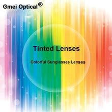Gmei optik radyasyon koruma 1.56 İndeksi renkli reçete lensler HMC EMI Anti UV optik renkli Lens güneş gözlüğü