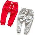 2-7y crianças harem pants crianças crianças baby boy calças calças da menina do algodão