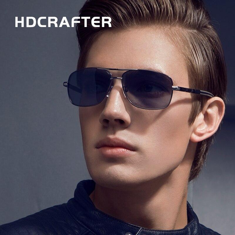 HDCRAFTER Polarized Sunglasses for Men Driving Google Brand Designer Sun Glasses Defending Coating gafas oculos de sol masculino