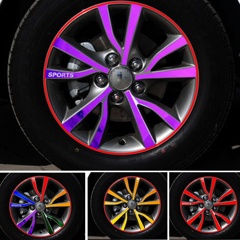 YONGXUN A set/4pcs colour 4D VINYL WHEEL HUB DECAL STICKER FOR MITSUBISHI ASX Jin Hyun Galant Lancer wing God