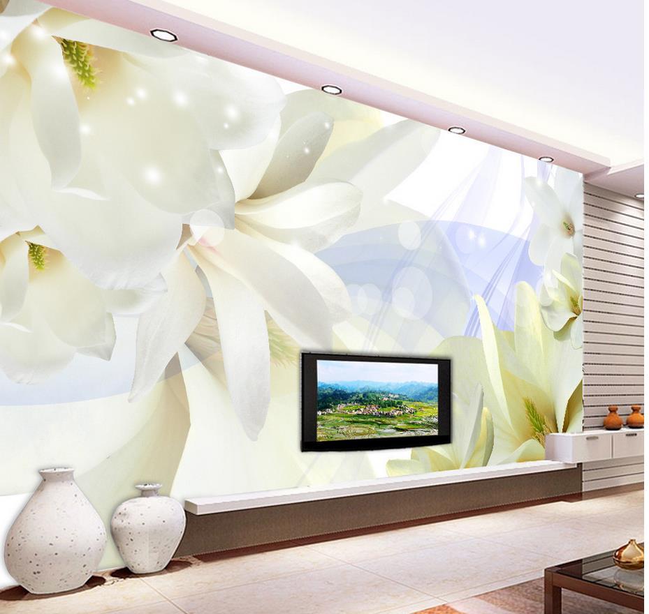 Tapetenwandbilder Blumen Hintergrund Tapete Orchidee Traum 3d Fr Moderne Wohnzimmer WandmalereienChina