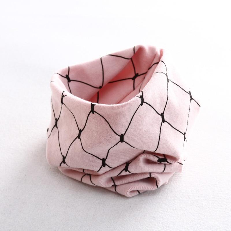 Осенне-зимний детский хлопковый шарф для девочек и мальчиков теплые шарфы Детский круглый кольцевой ошейник Детский шарф детский волшебный шейный платок - Цвет: grid 6