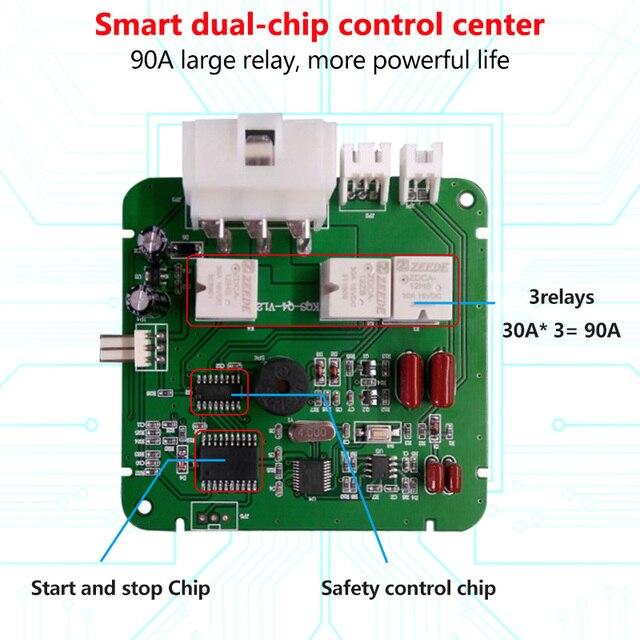 12V Auto Car Alarm One Start Stop Button Engine Push Button RFID Lock Ignition Switch Keyless Entry Starter Antitheft System 3