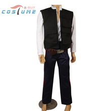 Star Wars ANH A New Hope Han Solo Costume Vest Shirt Pants Outfit Movie Cosplay Costume Halloween Party For Men