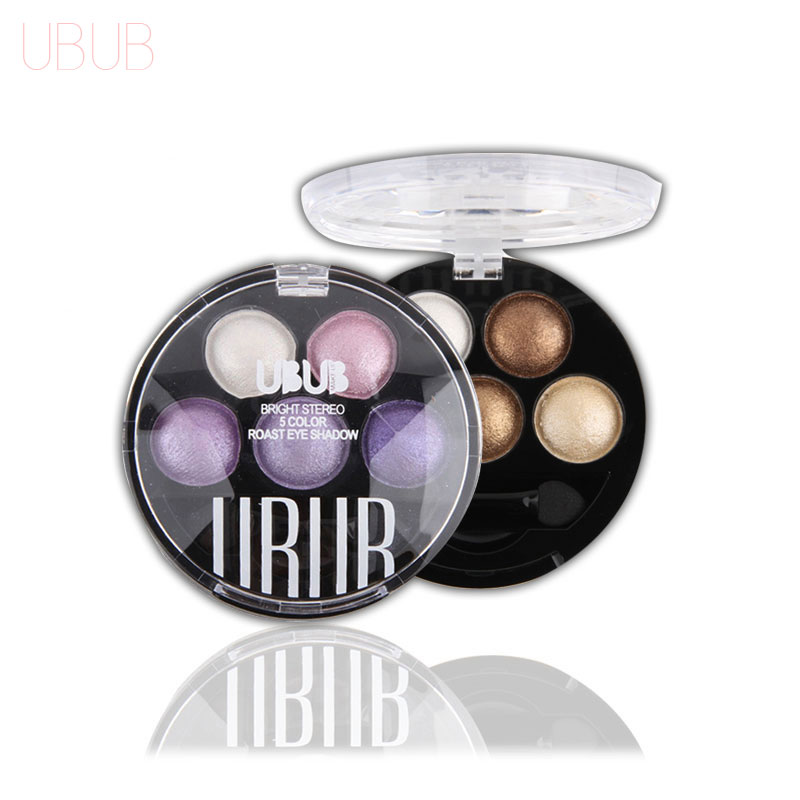 UBUB Professional Eyes Makeup Pigment Eyeshadow 5 Colors Eye Shadow Palette Beauty Brand ...