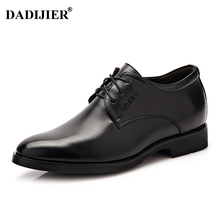 DADIJIER New Men Dress shoes Height increasing 6cm Classic wedding Dress Shoes Men ST78