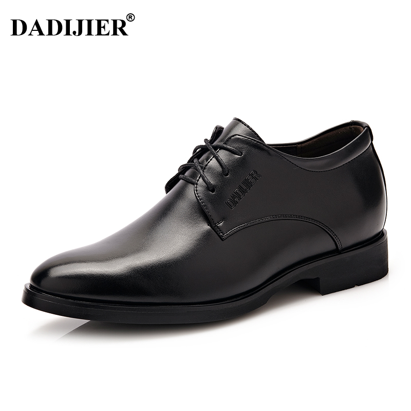 DADIJIER New Men Dress shoes Height increasing 6cm Classic wedding Dress Shoes Men ST78
