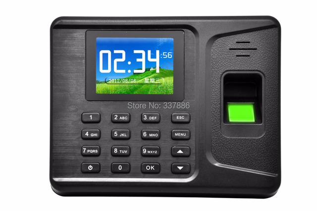 Rede biométrico de impressão digital comparecimento do tempo com leitor de rfid