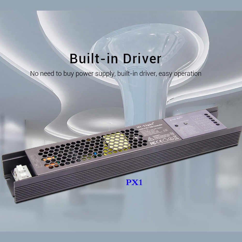 MiLight 100W 5 en 1 LED de contrôle alimentation intégrée 2.4G RF/WIFI APP/alexa commande vocale pour 24V RGB RGBW RGB + CCT bande de LED