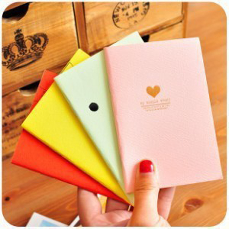 4pcs lot 12 4 8 5cm Cute Candy Color Love Bronzing Notebook Sketchbook Stationery School Office Supplies in Notebooks from Office School Supplies