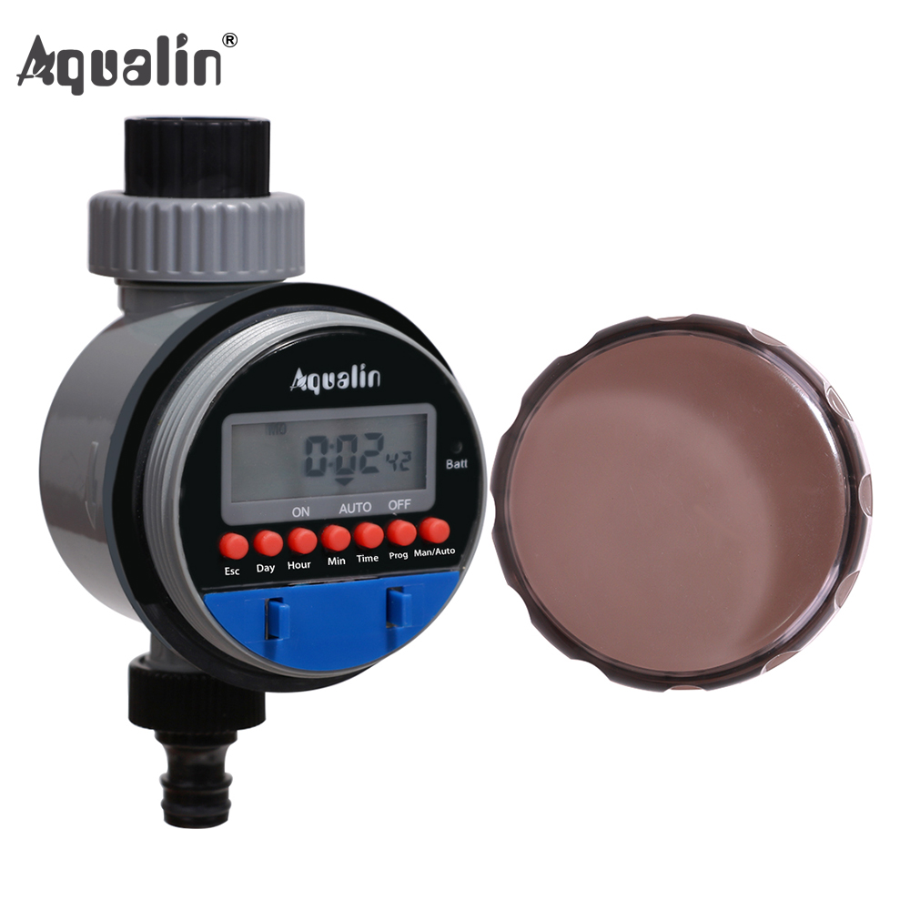 New Arrival Automatic Electronic LCD Display UV-proof Ball Valve Garden Watering Timer Irrigation Controller System#21026B