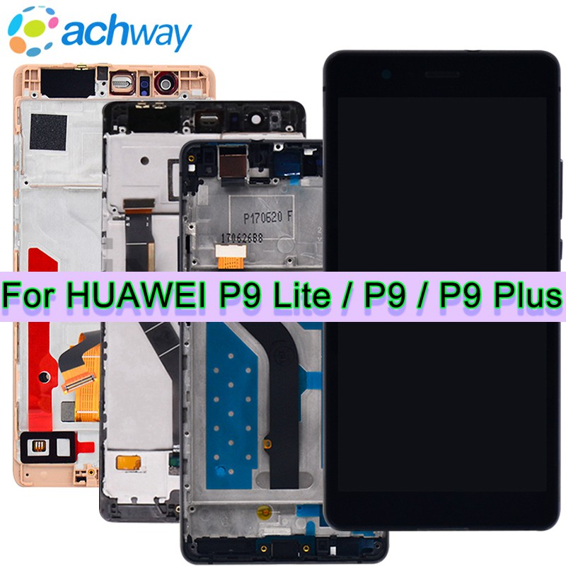 100% Testado Garantia de Tela HUAWEI P9 Lite LCD Touch Screen Montagem digitador HUAWEI P9 P9 P9 Além de Exibição Substituição Lite LCD
