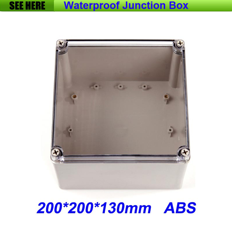 все цены на Free Shipping Good Quality ABS Material Transparent Cover IP66 waterproof electric meter box 200*200*130mm