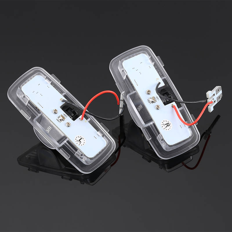 2Pcs Shadow Light Welcome Lamp Logo Laser Projector Car LED Door Warning Light For Honda Accord 2003-2013 CZ