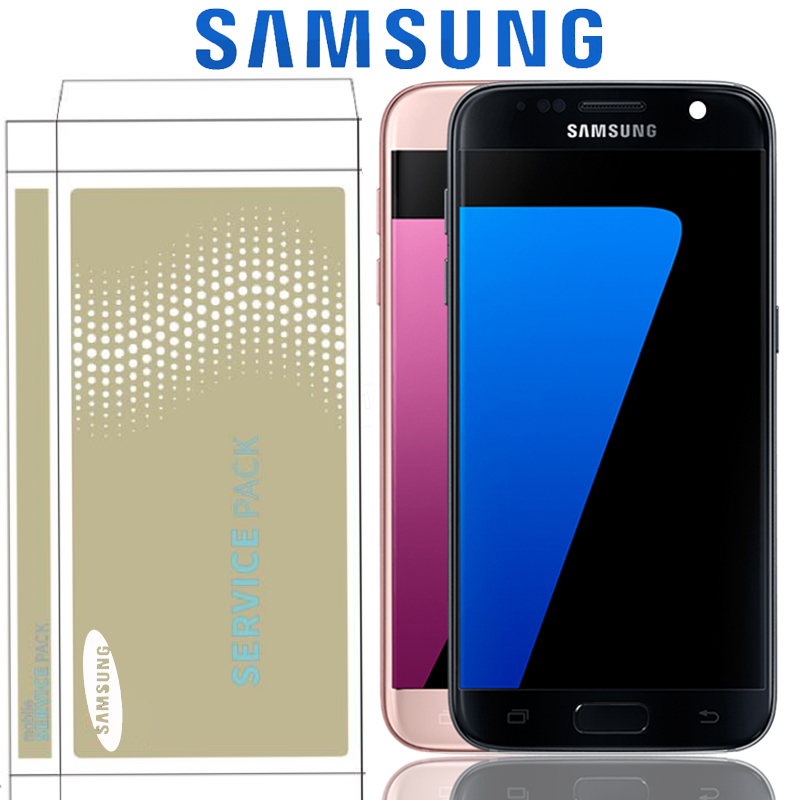 Original 5 1 SUPER AMOLED Display For Samsung S7 G930 G930F SM G930F LCD With Touch