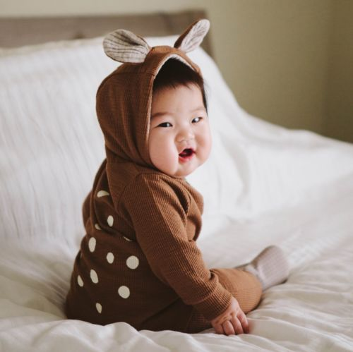 Infant Baby Boy Girls Kids Deer Long Sleeves   Romper   Jumpsuit Clothes Outfits Costume