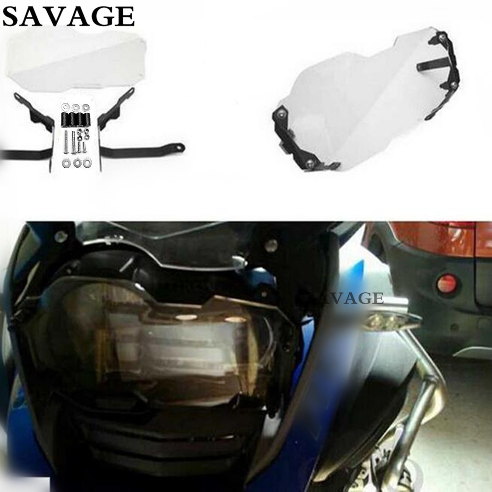 Motorcycle Headlight Protector Guard Cover For BMW R1200 GS and Adventure 2013-2016 14 15 gs motorcycle decal kit r1200 world adventure map for touratech panniers