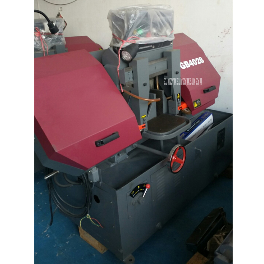 GB4028 горизонтальный ленточнопильный металлическая машина для сшивания лент профессиональная резка металла станок 380 V 2.2KW 26/59/75 м/мин 610 мм