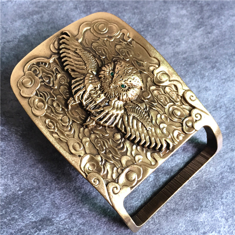 TOP Quality Owl Belt Brass Buckle Chinese Style Brass Belt Buckle For Man Belt Leather Luxury Belt Buckle BK0106