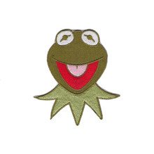 Frog face KERMIT muppets show character craft iron-on patch applique(China)