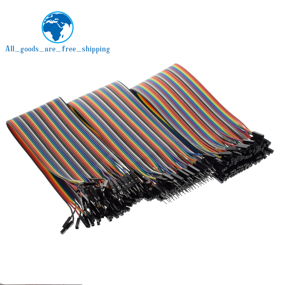TZT Dupont line 120pcs 30cm male to male + male to female and female to female jumper wire Dupont cable for Arduino