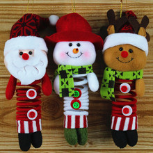 28*8CM Christmas Tree Santa Snowman hanging Ornaments Pendant Gifts Xmas Home window door decor 2016 drop ship sale