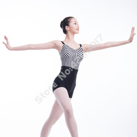 Adult Black And White Tights Ballet Leotards Ballerina Dress Performance Dance Costumes Girls Gymnastic Wear For Women L15C0022