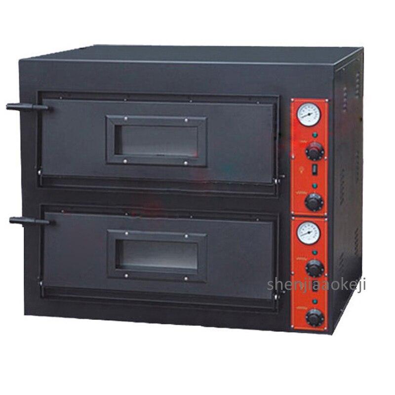 Four électrique Commercial 2 couches fabricant de cuisson multi-fonction Pizza pain gâteau cuisson machine convertisseur four à Pizza 380V 8.4KW