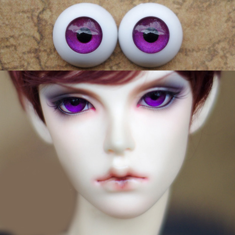 Beautiful Violet Purple Bjd Eyes for BJD Dolls toys eyeball 1/3  1/4 1/6 SD Dolls 16mm 18mm 20mm 22mm Acrylic EYEs for toy  doll free shipping bjd joint rbl 415j diy nude blyth doll birthday gift for girl 4 colour big eyes dolls with beautiful hair cute toy