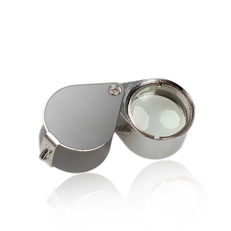 Magnifier glasses 30 mm Jewelry Magnifying Glass 21mm Folding Magnifier Loupe for Jewelry Coins Stamps Antiques in Magnifiers from Tools