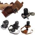 Luxury vintage pu bolsa de couro caso saco da câmera para nikon d810 D800 24-70mm Lente Tampa da câmera Digital com Cinta Da Bateria Aberto fácil