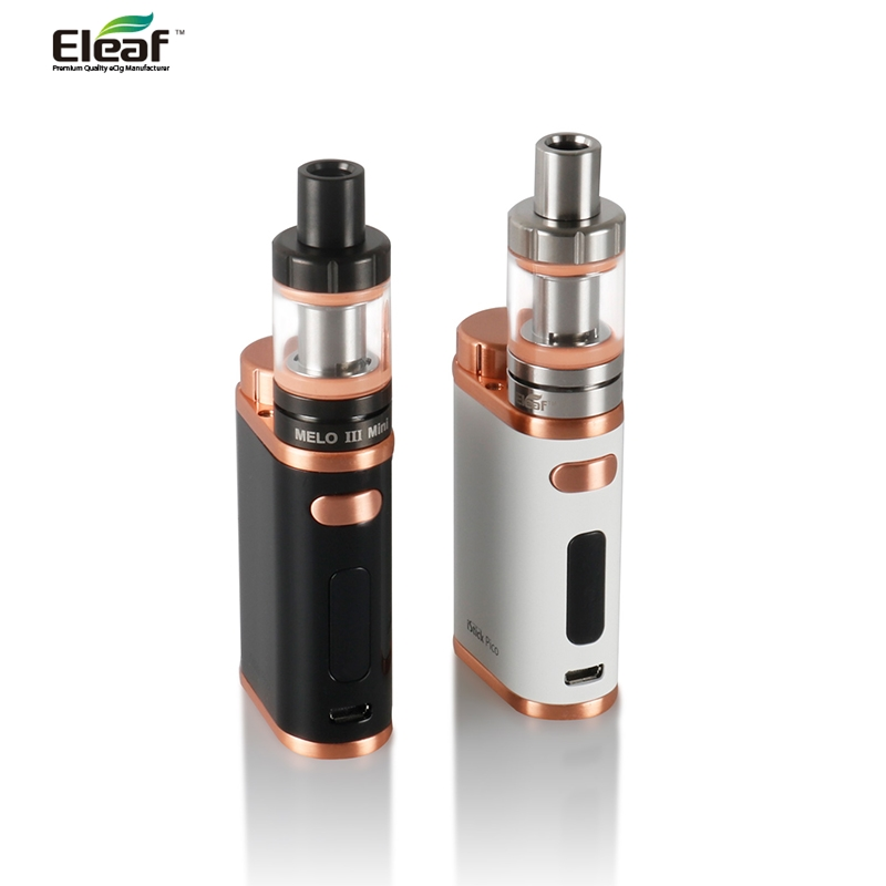 Original Eleaf IStick Pico 75W TC Kit Eleaf IStick Pico Mod Box + MELO 3 Mini Atomizer Tank Top Fill 2.0ml Capacity Vaporizer
