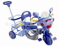 Gratis Verzending Helian 605 kinderen driewieler tandem fiets met push kinderwagen speelgoed groothandel