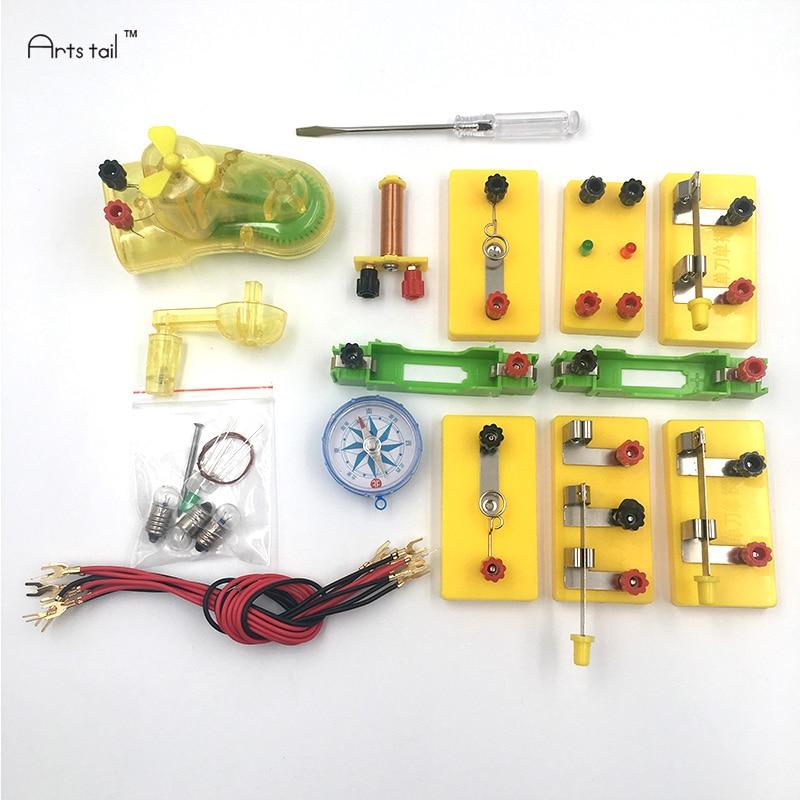 Boîte de test d'électricité pour commencer équipement de physique électromagnétique expérience scientifique aides pédagogiques de classe scolaire