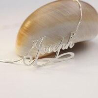 Zilver Custom Namplate Hanger Kettingen 925 Effen Gepersonaliseerde Inifity Liefde Naam Ketting Groothandel Valentijn Festival Gift