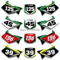 Para Kawasaki KX125 KX250 1994-1998 Placa de Número Personalizado Fundo Gráficos Etiqueta & Decalques