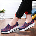 2017 Fashion Women Air Mesh Swing Platform Ladies Lightweight Slip On Flats Soft Comfortable Espadrilles Feminino Casual Shoes